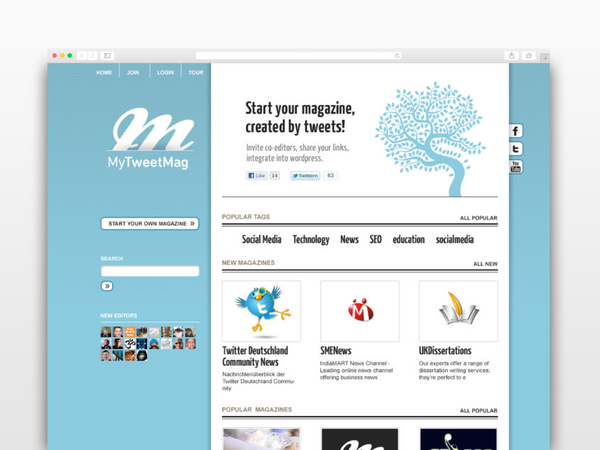 MyTweetMag Website