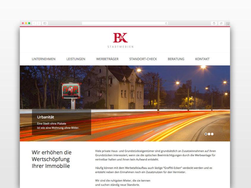 BK Stadtmedien Website